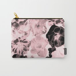 Large Rose Pattern Millennial Pink Carry-All Pouch