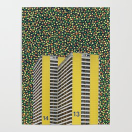 Colorful City Poster