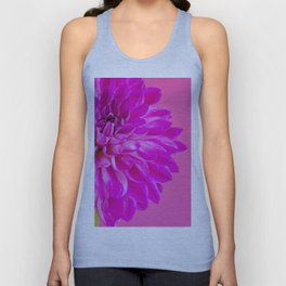 Close-up image of the flower dahlia on pink background. Shallow depth of field. Unisex Tank Top
