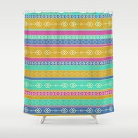 southwest Shower Curtains featuring Southwest Dawn by Rebecca L. Davis
