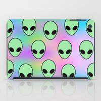 tumblr iPad Cases featuring Aliens Tumblr by Hipster's Wonderland