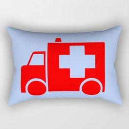 ambulance car illustration Rectangular Pillow