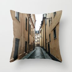 Streets of Stockholm Throw Pillow