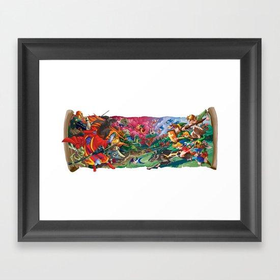 Zelda Mash Up Framed Art Print