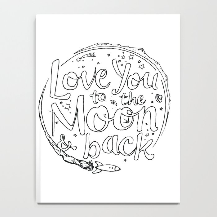 Love You To The Moon Back Coloring