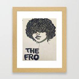 The Fro  Framed Art Print
