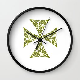 Lindisfarne St Johns Knot Grunge Wall Clock