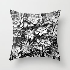 Black And White Plants Throw Pillow