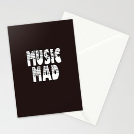 MUSIC MAD Stationery Cards