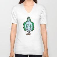 shiva V-neck T-shirts featuring Shiva II by Tshirtbaba