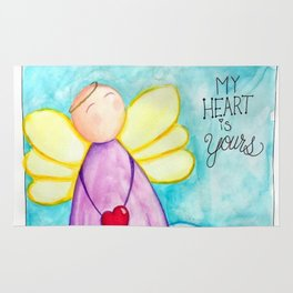 February Angel - My Heart is Yours Rug