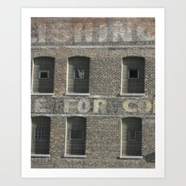 Chicago Windows, Old Building in Chicago Art Print