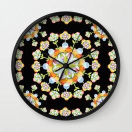 Jaipur Blossom Mandala Wall Clock