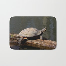 Turtle sunbather Bath Mat