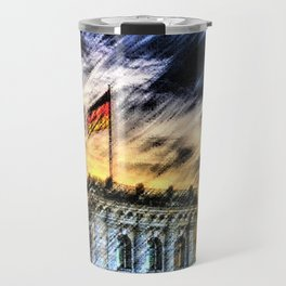 Berlin Sunrise Landscape Painting by Jeanpaul Ferro Travel Mug