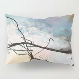 Heaven and Hell Abstract Painting by Jodi Tomer Cloudy Painting Sticks Pillow Sham