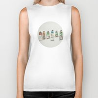 oil Biker Tanks featuring Oil Paints by Cassia Beck