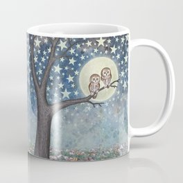 northern saw whet owls under the stars Coffee Mug