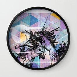 Unicorn Battle Wall Clock