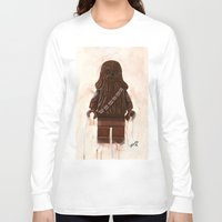 chewbacca Long Sleeve T-shirts featuring Lego Chewbacca by Toys 'R' Art