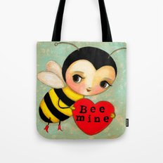 BEE MINE Cute bumble bee in love  Tote Bag
