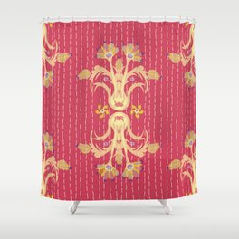 Kantha bouquet 7 Shower Curtain