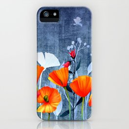 Summer night- Shadow of a Poppy meadow- Flowers iPhone Case