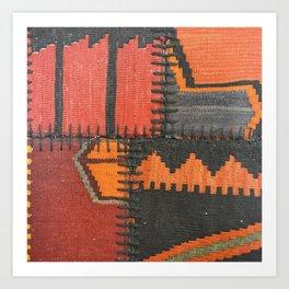 Caucasian Patchwork Art Print