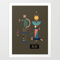 david olenick Art Prints featuring david by 0x17