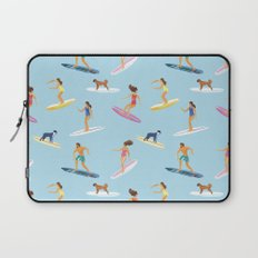 surfers watercolor pattern Laptop Sleeve