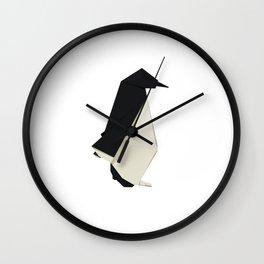 Origami Penguin Wall Clock