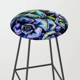 Watercolor Succulents art painting Bar Stool