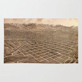 Map Of Salt Lake City 1875 Rug