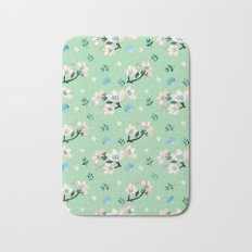 Be who you want to be - flowers and mint Bath Mat