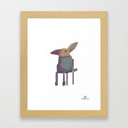 Humanimals - Bunny Framed Art Print