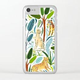 Jungle Cats Clear iPhone Case