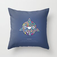 dolphin Throw Pillows featuring Dolphin by Narek Gyulumyan
