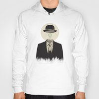 magritte Hoodies featuring Magritte | The Loading of Man by Gabriel Mihai | SnakeBishop