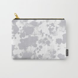Grey - pattern painting gray and white minimal modern art large stretched canvas minimal decor Carry-All Pouch