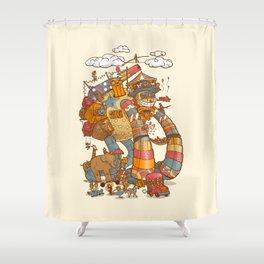 Circusbot Shower Curtain