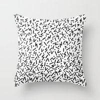 jazz Throw Pillows featuring JAZZ by Ellie Cryer