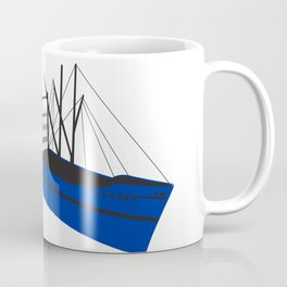 Vintage Cargo Ship Retro Coffee Mug