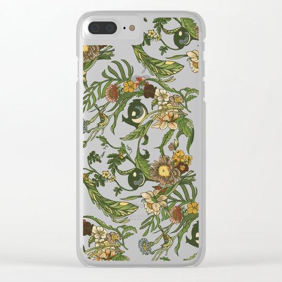 Botanical Pug Clear iPhone Case