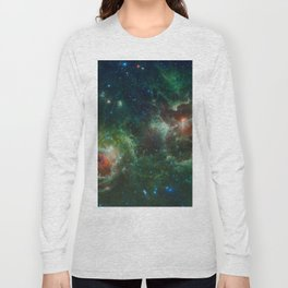 Hubble Space Photograph - Heart and Soul Nebulae Long Sleeve T-shirt