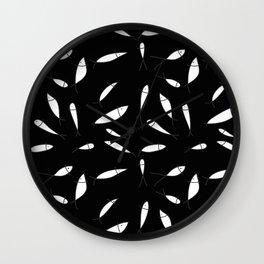 Fish pattern black Wall Clock