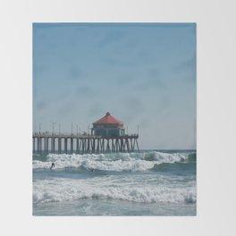 Huntington Beach Life Throw Blanket