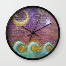 Starry Ocean Dreamtime Wall Clock