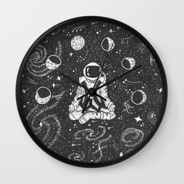 Astronaut Meditating Wall Clock