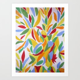 Happy Leaves Art Print