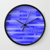 glitch Wall Clocks featuring Glitch by Claire Balderston